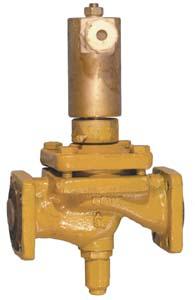 Клапан электромагнитный запорный мембранный, с ручным дублером, исполнение 18